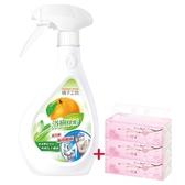 橘子工坊家用清潔類浴廁清潔劑480mlx4瓶組兩用噴槍+葇葇抽衛90抽3包