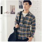 【大盤大】(S89155)男 100%純棉襯衫 法蘭絨襯衫 格子 蘇格蘭 休閒襯衫 厚地 有加大尺碼 M-2XL