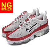 【US7-NG出清】Nike 慢跑鞋 Wmns Air Vapormax 360 灰 紅 女鞋 經典款 左鞋口後跟泛黃 運動鞋【ACS】