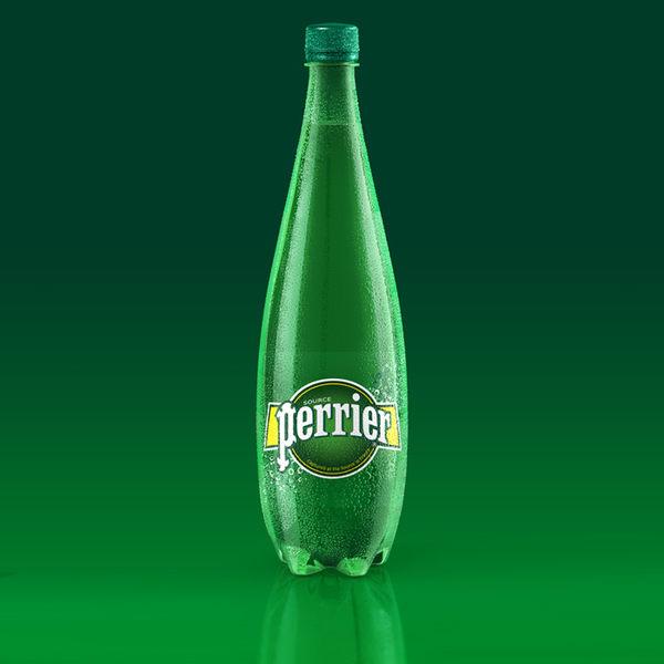 法國沛綠雅perrier 天然氣泡礦泉水 1000ml / 瓶