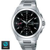 WIRED SEIKO副牌 立體設計黑色表面三眼鋼錶 7T92-X221D AF8Q23X 公司貨 | 名人鐘錶