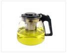【泡茶壺】單茶壺款 不鏽鋼濾網泡茶壺 高硼矽玻璃熱水壺 耐高溫 1000ml沖泡壺
