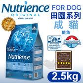 [寵樂子]《美國紐崔斯天然寵糧》田園系列-成貓(鮭魚+糙米)2.5kg/貓飼料