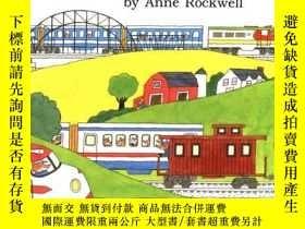 二手書博民逛書店Trains罕見(Anne Rockwells Transportation Series)-火車(安妮·羅克韋爾