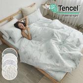 《多款任選》絲柔親膚奧地利TENCEL天絲5尺雙人床包被套四件組(含枕套)台灣製/萊賽爾Lyocell