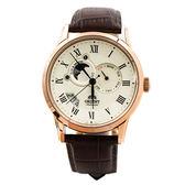 ORIENT 東方錶 SET0T001W 日相 月相 機械錶 男錶 玫瑰金/42.5mm