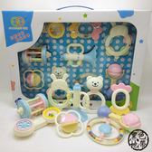 彌月禮盒組 0-3-6八12個月嬰兒童1歲九新生兒益智牙膠手搖鈴男女寶寶玩具禮盒 ~黑色地帶