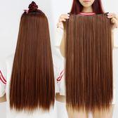 假髮片 假髮接髮片 一片式髮片假髮片 仿真隱形無痕直髮 加厚接髮直髮片