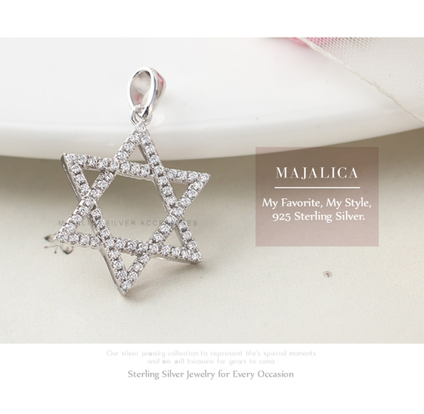 Majalica純銀星星鎖骨鍊女短鏈魔法六芒星微鑲情人節生日禮物送禮人氣推薦 PN5054