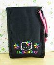 【震撼精品百貨】Hello Kitty 凱蒂貓~KITTY證件夾附鏡-黑彩花