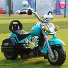 兒童電動摩托車三輪車小玩具車可坐人女男孩可充電兒童遙控車RM