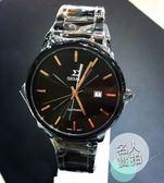 【名人鐘錶・實體店面】SIGMA 黑玫瑰金大三針黑鋼男錶x39mm玫瑰金・藍寶石水晶鏡面・1122M-BG