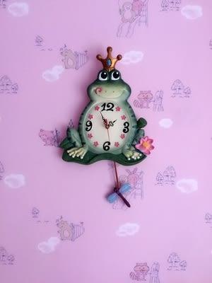田園創意可愛掛鐘 超靜音家居裝飾品 客廳 臥室壁鐘