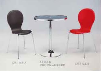 【南洋風休閒傢俱】造型桌椅系列 –玻璃長方桌/圓桌+米勒椅 休閒椅 餐椅 洽談椅 造型椅(546-1)