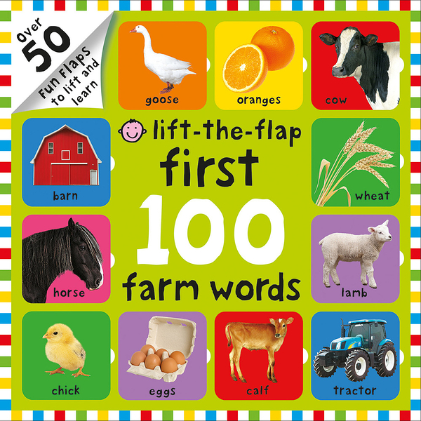 FIRST 100 FARM NUMBERS /LIFT-THE-FLAP 《幼兒數數操作書》
