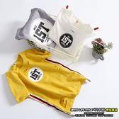 小男童短袖t恤夏裝4韓版純棉時尚破洞上衣潮~