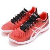 Asics 排羽球鞋 Gel-Task 紅 銀 女鞋 低筒 運動鞋 基本款【PUMP306】 B754Y-3090