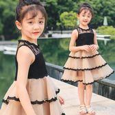 女童無袖紗裙蕾絲洋裝夏裝韓版連身裙兒童裙子中大童裝洋氣公主裙10歲 DR16206【男人與流行】