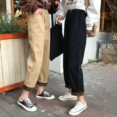 牛仔褲 冬季加絨加厚高腰褲子寬鬆直筒褲工裝休閒褲牛仔褲女 伊韓時尚