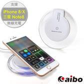 aibo TX-Q4 Qi 智慧型手機專用 水晶碟無線充電板-白色