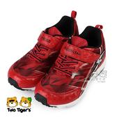 日本月星 MoonStar 紅色 SS競速運動鞋 魔鬼氈 中童鞋 NO.R5275