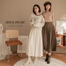 長裙 Space Picnic|素面鬆緊長裙-3色(預購)【C21092014】