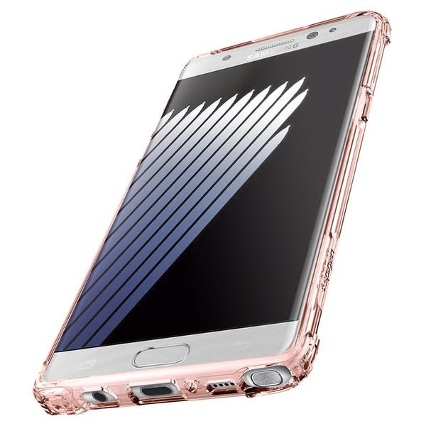 【贈9H玻璃保貼】Spigen 韓國 SGP 三星 Note7 Crystal Shell 透明防撞 手機保護殼