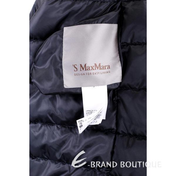 MAX MARA-'S Max Mara 深藍色印花雙面兩穿連帽羽絨外套 1540501-34