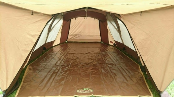 LOWDEN客製化地墊 SP770 / SP750 2件式防水耐磨地墊 (SP大地色) 露營地布(含客廳區和寢室區)