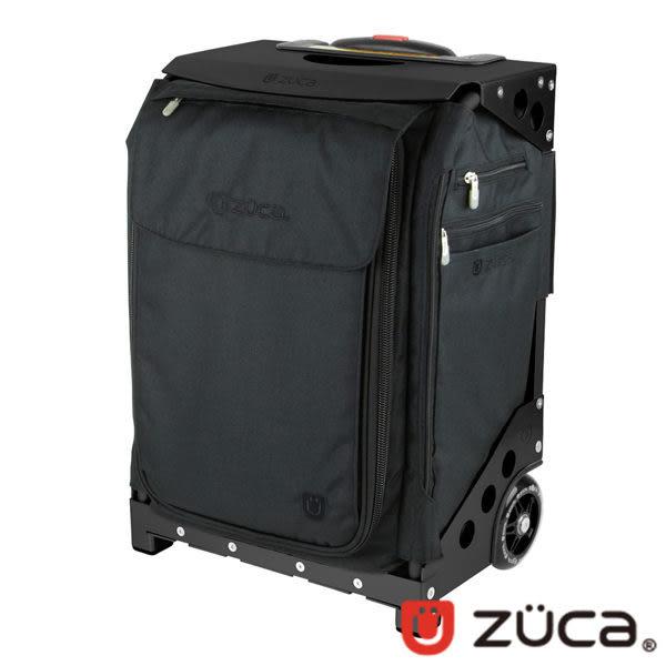 ZUCA Flyer Travel 商務行李箱 登機箱 ZFT-497 (收納/拉桿/可坐式/可爬樓梯)/黑布/黑框