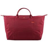【LONGCHAMP】L號短把LE PLIAGE CLUB折疊旅行包(石榴石紅色) L1624 619 209