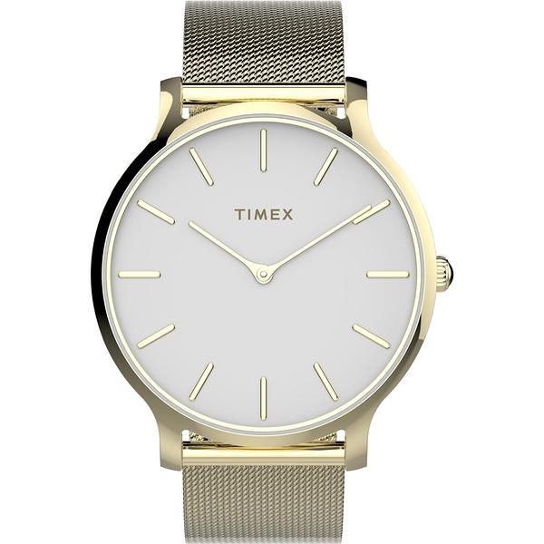 【TIMEX】天美時 復刻系列 耀眼金屬光手錶 ( 金色 TXTW2T74100)