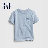 Gap男幼童 布萊納系列 活力純棉純色圓領T恤 669948-淺藍色