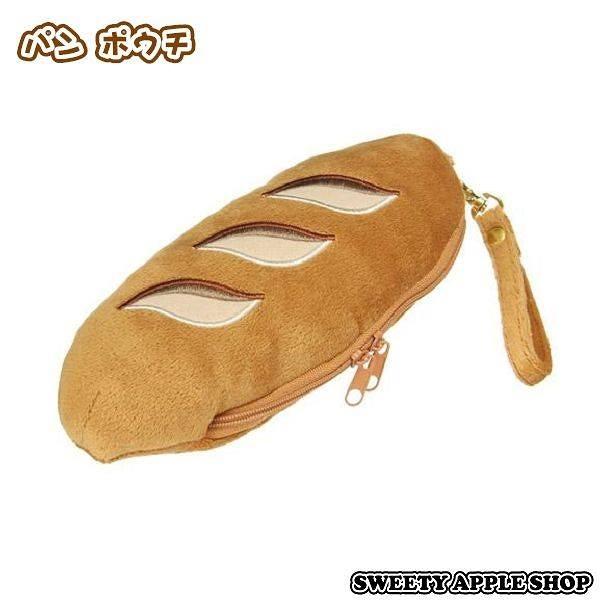 日本限定 法國麵包 絨毛 收納袋 / 筆袋
