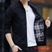 夾克 男士外套秋冬季新款韓版潮流牛仔工裝外套男夾克秋冬裝棉衣服 4色