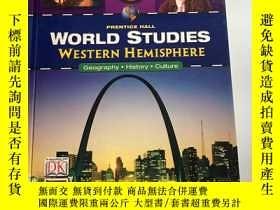 二手書博民逛書店PRENTICE罕見HALL WORLD STUDIES WES