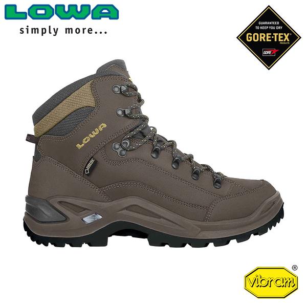【LOWA 德國 男 Renegade GTX Mid 中筒多功能健行鞋《灰棕》】LW310945/登山鞋/中筒靴/徒步鞋