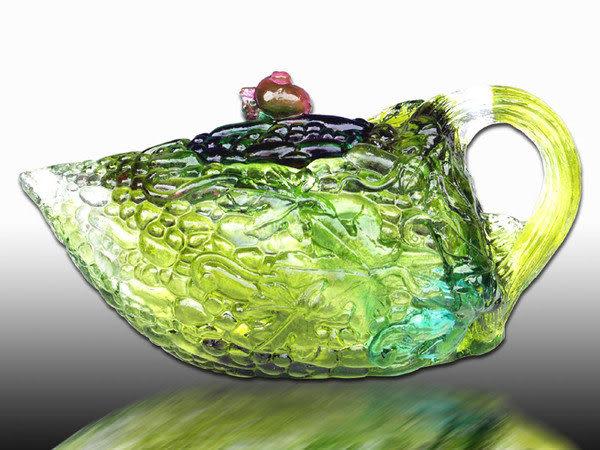 鹿港窯~居家開運琉璃茶壺【苦盡甘來】附精美包裝◆附古法製作珍藏保證卡◆免運費送到家