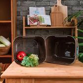 Fresh方型蔬果瀝水(4色隨機出貨)-生活工場