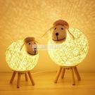 創意ins台燈臥室床頭櫃北歐少女可愛小羊夢幻浪漫溫馨睡眠小夜燈 NMS設計師