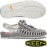 KEEN Uneek 1018694淺灰 女專業戶外護趾編織涼鞋 水陸兩用繩編鞋/運動健走鞋/沙灘戲水拖鞋