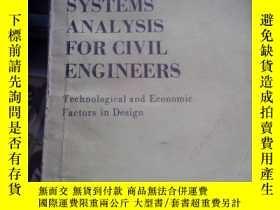 二手書博民逛書店(19)SYSTEMS罕見ANALYSIS FOR CIVIL ENGINEERS 土木工程用系統分析·Y37