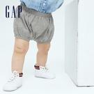 Gap嬰兒 布萊納系列 純棉短褲 700123-淺灰色