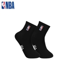 NBA 平版襪 MIT 運動配件 LogoMan刺繡短襪 (黑)