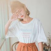 MUMU【T61531】英文字句舒適棉質短袖T恤