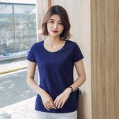 夏季短袖T恤女30-40-50歲媽媽裝純棉上衣