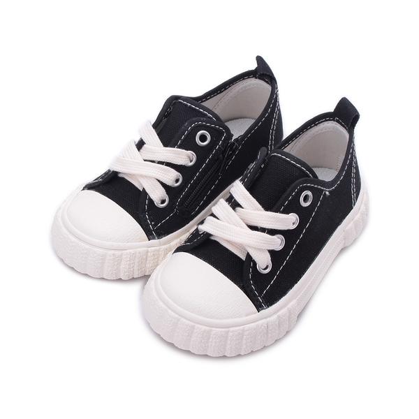 GIOVANNI VALENTINO 帆布側拉鍊餅乾鞋 黑 GV5150 中小童鞋