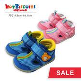 童鞋  學步鞋 雙層網布休閒涼鞋 賓斯熊卡比兔造型頭款  (第二階段) HOT BISCUITS【MIKIHOUSE】72-9302-977
