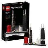 樂高積木樂高建筑系列21033芝加哥LEGO積木玩具收藏 聖誕交換禮物xw