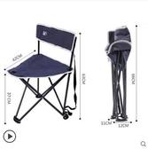 戶外折疊椅便攜式靠背椅子加厚釣魚椅沙灘椅
